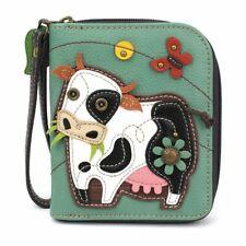 Chala -  Cow  - Zip-Around Wallet