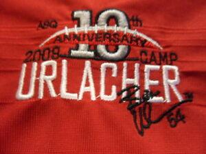 Red Nike Golf FitDry Brian Urlacher Football Camp Polo Shirt XL