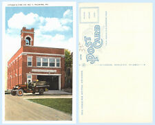 Citzens Fire Department Building Engine Palmyra Pennsylvania 1930s  Postcard