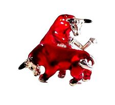RED BULL CUFFLINKS, STERLING SILVER, ENAMEL by G.DANILOFF&CO.