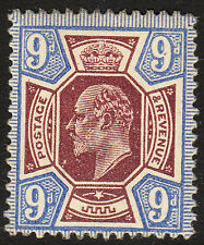 Sg 307 9d Dull Reddish Purple and Blue M41(3) Post Office fresh unmounted mint.