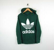 Womens Adidas Originals Style Forest Green Pullover Hoodie Sweatshirt Size 22UK
