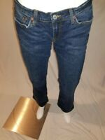 Lucky Brand Womens Jeans 8/29 Dark Wash Blue Mid Rise Flare Denim 100% Cotton