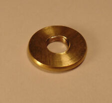 """New 1"""" Turned Brass Seating Ring Lamp Part, 1/8F Tap, Unfinished Brass #SR548U"""
