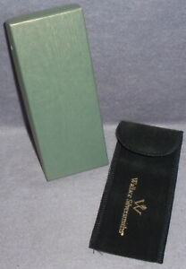Genuine Wallace Silver Candy Cane Replacement Christmas Ornament Box Pouch Only