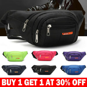Unisex Waterproof Waist Bum Bags Fanny Pack Belt Pouch Wallet Travel Bag SV