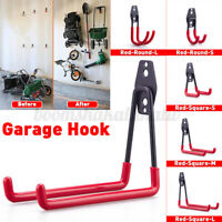 9PCS Garage Storage Wall Mounted Hooks Utility Heavy Duty Hangers Hanging