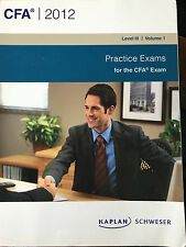 CFA  2012 Practice Exams for CFA Exam Level III Volume I Kaplan Schweser