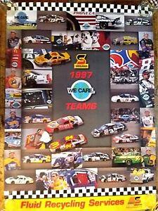 Four Vintage 1997 NASCAR Posters, Safety-Kleen Racing Motorsport, NOS, Unused