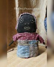 New listing Primitive Rag Stuffed Black Stump Doll