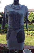 Les femmes portent Sarah Pacini viscose Mix Gris Knit Wear tunique SP 5068 BNWT