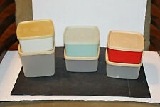 10 pc Vtg Tupperware Square Round Containers # 311(4) & #312     !6 & 30 oz