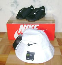 NIKE SUNRAY ADJUST 5 TD Sandals 8 C + NWT Toddler UPF 40+ Bucket Hat FAST SHIP!