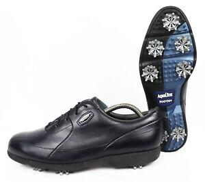 FootJoy Aqualites 93083K Black Leather Women's Golf Shoes Size UK 5 EU 38 US 7 M