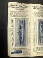 Royal Blue Line Motor Tours of New York City brochure Flyer Map Booklet 1920's