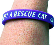 ADOPT A RESCUE CAT CHARITY WRISTBAND, PURPLE, ADULT SIZE, 100% TO CHARITY