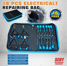 16pc Electronic Repair Kit Set Bag Screwdrivers Pliers Philips Torx Flat Slotted