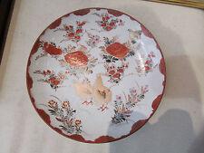 ancienne assiette porcelaine du japon imari decor floral et oiseaux