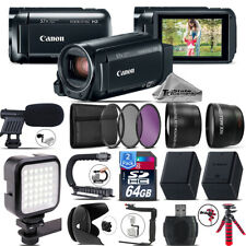 Canon VIXIA HF R800 + Mic + LED + Telephoto & Wide Angle Lens &More! -128GB Kit