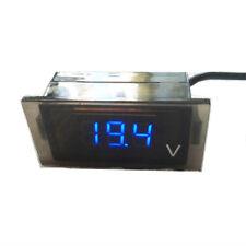 Motorcycle DC 12V-24V Blue LED Digital Display Voltmeter Voltage Meter Boat ATV