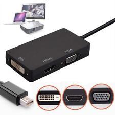 3in1 Mini Display Port DP Thunderbolt to DVI VGA HDMI Adapter for MacBook Pro JS