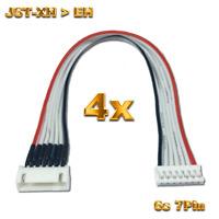 4 Balancerkabel Lipo Akku Adapter 6S 7Pin JST-XH auf EH Ladekabel Verlängerung