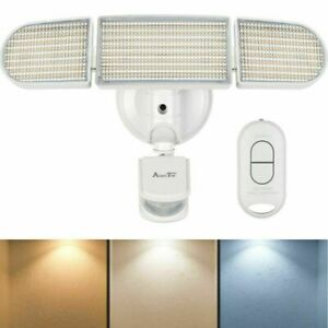 Motion Sensor Light Outdoor, LED Security Light Waterproof  Adjustable Heads