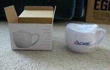 American Airlines - CARGO 1990's  --  Mug + Lid + Spoon  --  NEW in box
