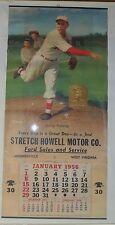 1956 Dizzy Dean Baseball Calendar Ford LARGE RARE Cooperstown HOF Bill Medcalf