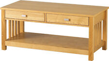 Seconique Ashmore 2 Drawer Coffee Table With Ash Veneer Finish