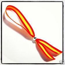 Spanish National Flag Wristband Spain Espana Ribbon Bracelet New