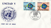 UNITED NATIONS 1979 UNCTAD V FIRST DAY COVER PHILIPPINES SHS