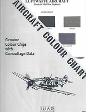Aircraft Colour Chart: Luftwaffe Fighters (Early & Mid-War Fighters)  CC-2