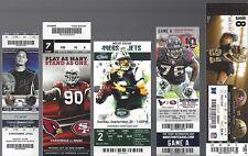 2012 NFL SF 49ERS UNUSED FOOTBALL TICKETS HOME & AWAY ALMOST COMPLETE SET 16/20