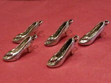 Tibetan Silver 3D Shoe Charms pack of 5