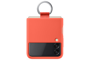 Samsung Galaxy Z Flip3 Coral Silicone Cover with Ring