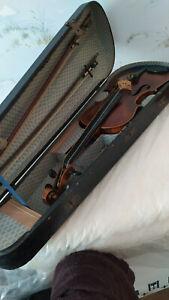 Alte Geige aus Nachlass ca.78Jahre mit Geigenkasten und 2 Bogen.