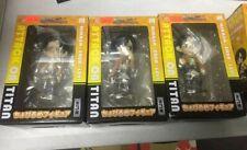 ChobiruMe Attack On Titan 10cm Figure Levi Ackerman,Eren Yeager,Mikasa