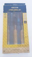 Vintage Wickes 3 Piece Chisel Set Chrome Vanadium Steel Hand Tool Hardened
