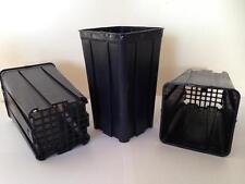 10 Deep Square Pots from Bamaplast 10 x 10 x 17 cm  1.4 litre