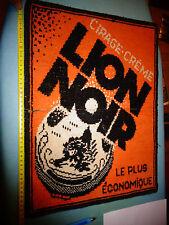 Ancien Tapis de Jeu Crème Cirage du Lion Noir sur sa Boite , à restaurer