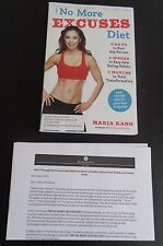 THE NO MORE EXCUSES DIET Maria Kang ADVANCE COPY Paperback NEW + Press Release