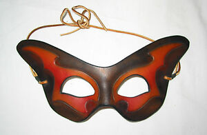LEATHER Face Mask Hand Made Art 2002 Signed RST © 01 Numbered 14/100  63-D