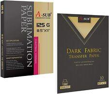 A Sub Sublimation Paper 125g Printable Dark Cotton Inkjet Heat Transfer 85x11