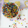 700Pcs Mixed Brilliant Tiny Seed Round Glass Spacer Beads Charms 2mm