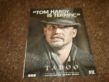 TABOO 2017 Emmy ad with Tom Hardy as James Keziah Delaney, Best Drama Series