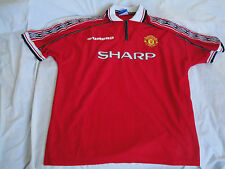 Rare MANCHESTER UNITED 1998/2000 Vintage Umbro Football Shirt Jersey Size XL