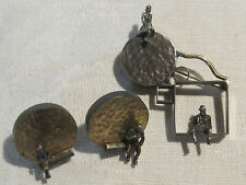 Post modernist surrealist pin & earrings by Mary Ann Spavins Owen MASO