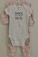 Carter's Baby Girls Unicorn 3 Piece Coordinating Set/Outfit Size 9 months NEW!