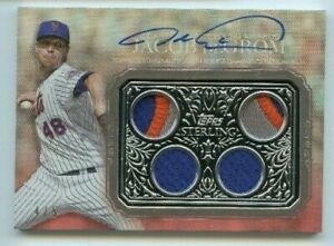 2021 Topps Sterling Jacob DeGrom Strikes Quad Patch Auto Red 4/5 New York Mets